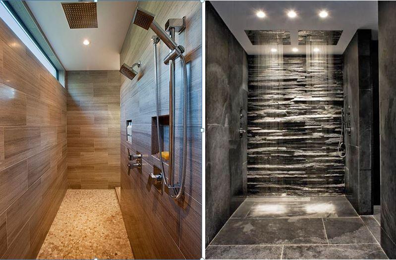 De inloopdouche in badkamertegels wint aan populariteit for Badkamer design italiaanse douche
