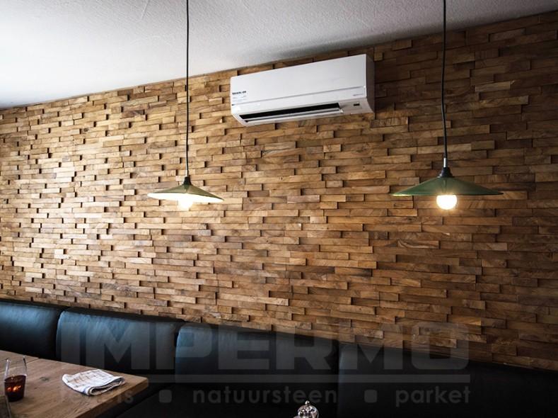64 . , teak, wood, wandpanelen, hout, sierstrips, houten wandbekleding ...