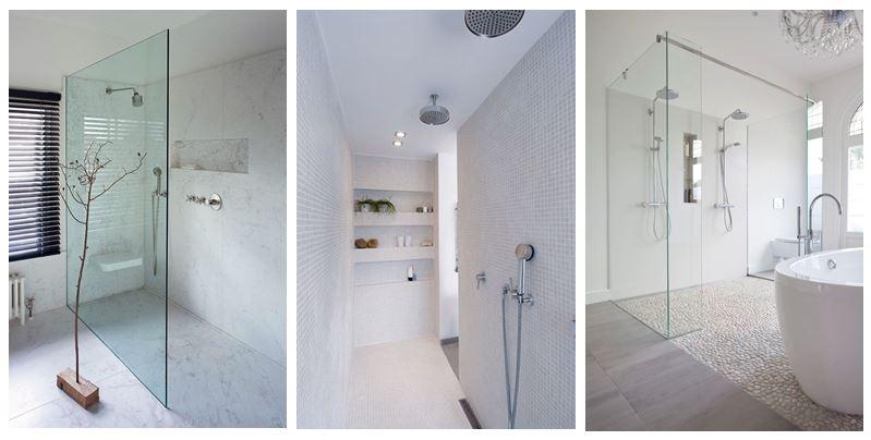 De inloopdouche in badkamertegels wint aan populariteit - Italiaanse douche mosai dat ...