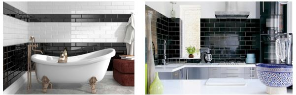 Metrotegels top trend voor je keuken of badkamer - Faience giet keuken moderne ...