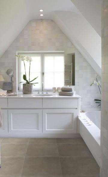 Tegels badkamer taupe badkamertegels taupe lichte badkamer badkamermeubel op maat - Tegellijm keuken ...