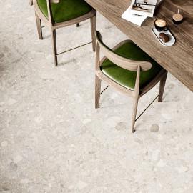 Natural stone terrace tile
